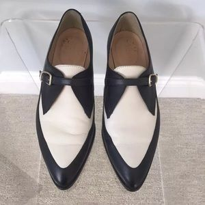 J.Crew black and white oxfords size 7